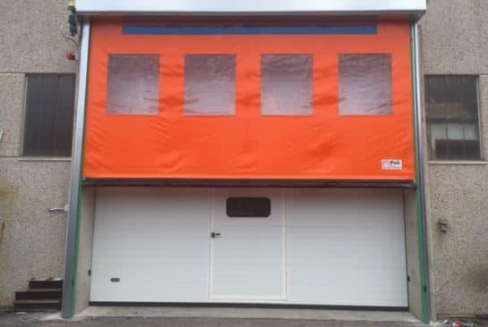 installazione porte sezionali industriali e porte rapide
